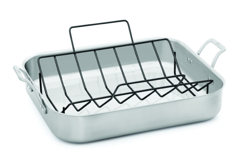 Signature Stainless Steel 16-in. Roaster with Rack