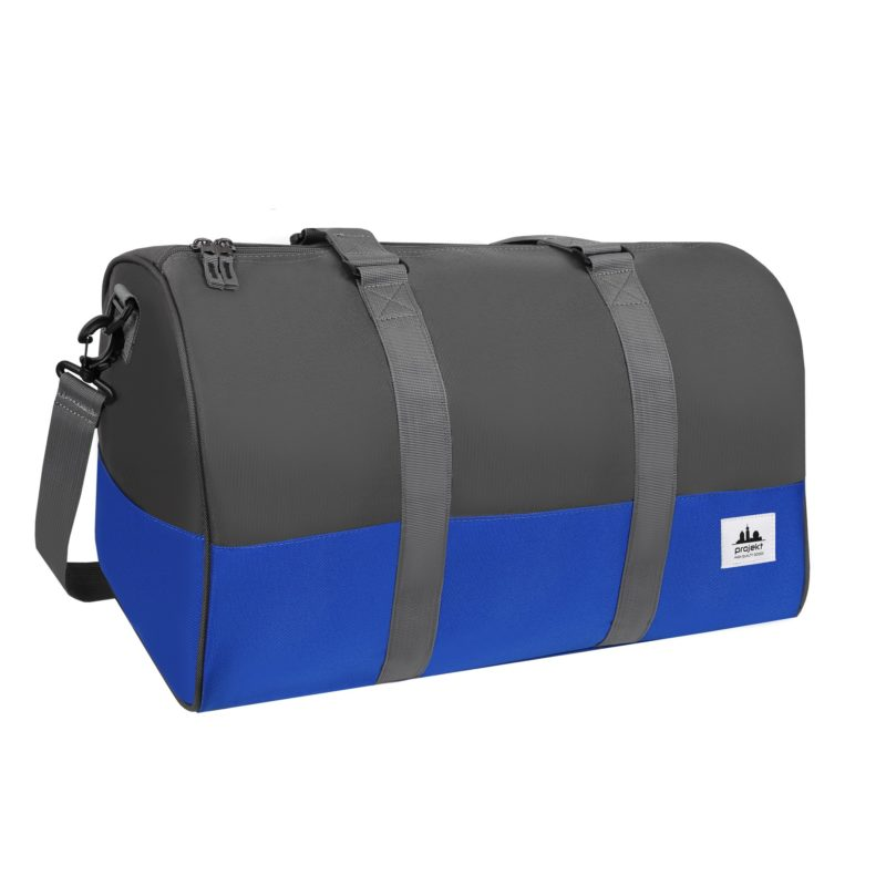 Kaptain Duffel – Charcoal / Royal