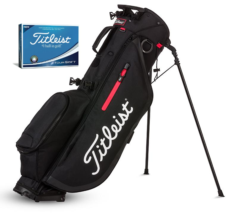 Players 4 Stand Bag  – Bundle w. Tour Soft Golf Ball
